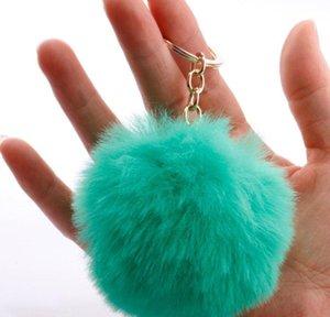 الأرنب الفراء الكرة المفاتيح الفراء الناعمة الكرة جميلة الذهب معدن مفتاح سلاسل الكرة بوم بومس أفخم المفاتيح مع لؤلؤة jllzbk home003