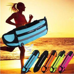 Su geçirmez Bel Çantası Açık Running Sport Koşu Kemer Fanny Paketi Kılıfı Su Geçirmez Telefon Kılıfı iPhone 12 Mini 11 Pro XS MAX XR 8 7