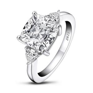 QYI Обручальное кольцо Улучшенный SONA камень белого золота цвета 925 серебряные кольца Sterling для женщин в зацеплении 1004