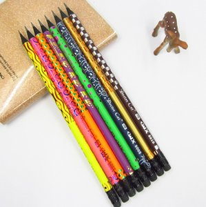 Black Wood Pencil Painted HB Pencils with Erasers for School Office Writing Supplies Z54