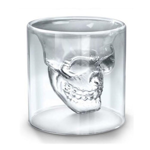 25ML Wine Cup Skull Glass Shot Glass Beer Whiskey Halloween Decoration Creative Party Transparent Drinkware Drinking Glasses