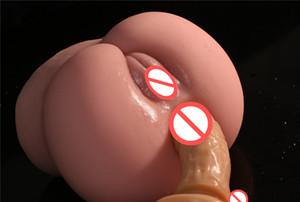 Artificial Realistic 3D Big Ass Dolls Hip Vagina Pussy Anus Channel Male Masturbator Adults Masturbation For Men Sex Toy 1028