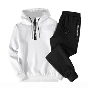 ASALI Hoodies Set Men Autumn Casual Mens Tracksuit Hooded Hoody + Pants 2 Piece Men's Sportwear Pullovers Sets Male Outwear 5XL