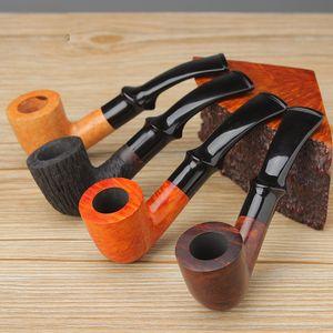 Handgeschnitzte Briar-Holz-Raucher-Rohrfilter-Rohrhalter Exquisite Tabakzubehör Sammlung hölzernraucher Pfeife Großhandel