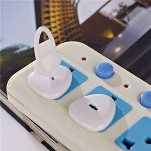 Baby Anti-leakage Socket Plug Children Anti-shock 3-pin Electrical Socket Protection Cover with Key