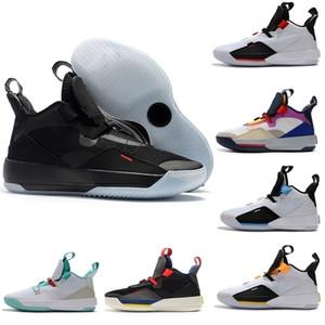 Üst Toptan Jumpman XXXIII 33 Erkek Basketbol Ayakkabı Yüksek Kalite 33 S Renkli Siyah Beyaz Yeşil Sarı Eğitmenler Sneakers Boyutu 40-46