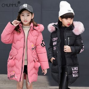 New Girls Warm Winter Coat Artificial Fur Fashion Kids Hooded Jacket Coat for Girl Outerwear Girls Clothes 3-12 Years 201126