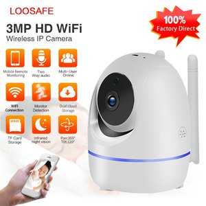 LOOSAFE 3.0MP Home Security IP Camera Wi-Fi Wireless Full HD Baby Monitor IRCut Night IR Automatic trackingPTZ Cloud CCTV Cameas