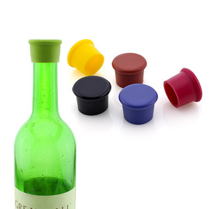 Wein-Flaschen-Stopper Food Grade Silikon Preservation Wine Stoppers Küche Wein-Champagne-Korken Getränkeverschlüsse Bar Tool OWD2620