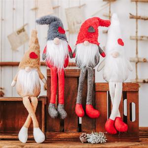Décorations de Noël Poupée en peluche avec pieds sans visage de poupée Pendentif ornements Creative forêt vieille homme 4 sortes de Noël ornement T3I51256