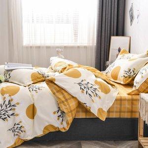 مجموعة مفروشات الأزياء الفاخرة الوردي الحب مجموعة الأسرة ورقة غطاء لحاف المخدة كامل الملك ملكة واحدة، سرير مجموعة 2019 C0223
