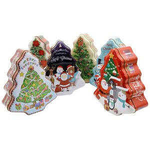 1pc Christmas Tree Design Gift Box DIY Foods Packing Cookies,chocolate,Candy Box Xmas Decor Home Storage Party Supplies