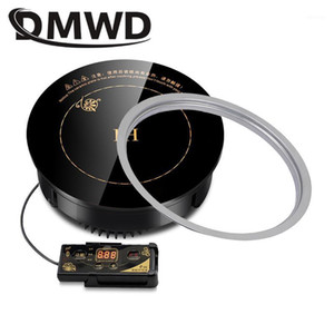 DMWD Round Electric Magnetic Induction Cooker wire control Embedded mini hob Burner Commercial waterproof hot pot stove cooktop1