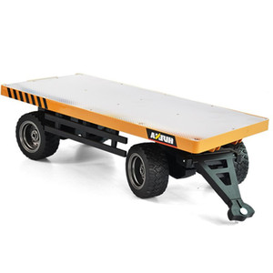 Huina 1578 flatbed engineering vehicle 1:10 alloy steel plane loading cargo trailer boy toy model