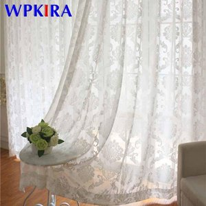 Pure White Thickened Flocking Gauze Europe Geometry Embroidered Voile Window Screen Living room Floor-to-ceiling Window ZH505E