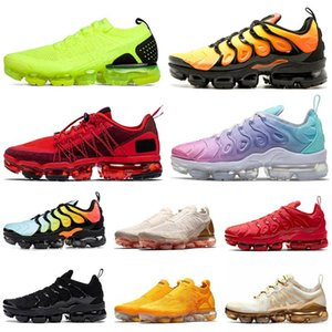 Nike Air Vapormax Flyknit Plus Max Damla Nakliye Beyaz Siyah Kırmızı Yastık kıvrak Dantel Genç MEN Bayan Unisex Boy Kız Düşük Kesim Tasarımcı Eğitmenler Spor Sneaker Ayakkabı Koşu