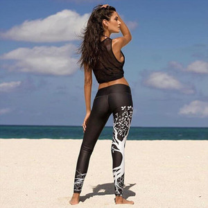 Women Print Pants Women Unique Fitness Leggings Workout Sports Running Leggings Sexy Push Up Gym Wear Elastic Slim Pants