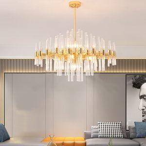 Nordic Luxury Metal Glass Pendant Lamp Restaurant Bar Villa Hotel Living Room Bedroom Decor Art Chandelier PA0721