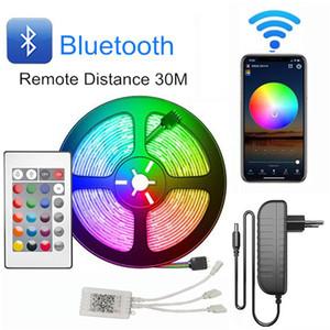 Striscia di RGB LED Luce 5050 LED striscia flessibile del nastro DC12V 5M 10m 20M Remote Kit completi per il salone / letto in camera / Cucina