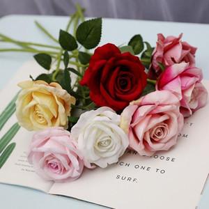 Artificial Rose Flowers Flannelette Rose Wreaths Wedding Bouquets Corsage Wrist Flower Headpiece Centerpieces Home Party Decor LX1774
