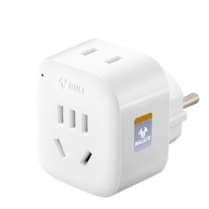 Bull Converter Plug Adaptor De Eu Kp Electrical Plug Adaptor Socket Travel Power Charger Conversion Free Shipping Nb