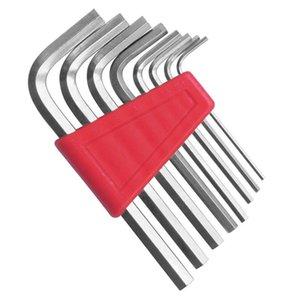 "Jewii 8Pcs Hex Key Allen Wrench 1 16""- 1 4"" Inch & 1.5mm-6mm Metric Size Chromium-vanadium Steel Spanner Short Arm Tool Set"