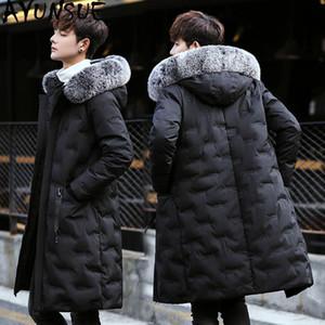 AYUNSUE 2020 dell'anatra giù del rivestimento degli uomini coreani lungo spesso cappotto invernale Giubbotti da uomo Fur Collar Mens Abbigliamento Kurtka Zimowa KJ496