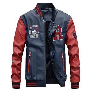 Free shipping Men's PU Motorcycle Jackets Coats Autumn Winter biker jacket Faux Leather 2020 fashion 6XL new leather clothing