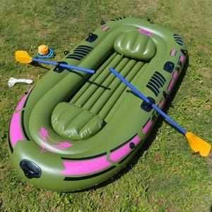 2-3 kişi şişme kürek tekne rulman 250 kg dayanıklı pvc kauçuk balıkçı teknesi seti 230x137 cm ile kürekler pompa koltuk minderi kiti