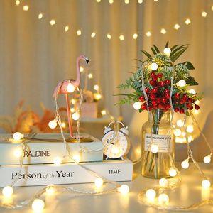 Su geçirmez LED Şerit Dize 10 M 100LED Topu AC110 V / 220 V Renkli Yatak Odası Dekoratif Kapalı Aydınlatma Zinciri Noel Asılı Işıklar Parti Festivali