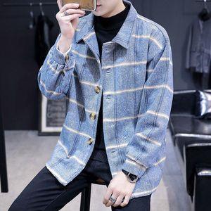 Mode Automne Veste Manteau Homme Corduroy Baissez col poches vestes pour hommes Casual Male vêtement coupe-vent