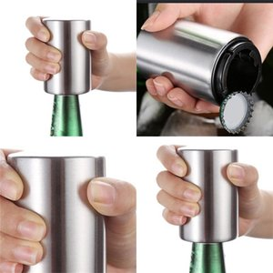 Paslanmaz Çelik Bira Şişe Açacağı Otomatik Basın Tipi Yok Trace Emek Tasarrufu Şişeler Açıcılar Uygun Sıcak Satış 5 2LD F2