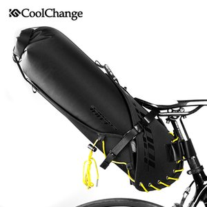Çanta Bisiklet Eyer MTB Kuyruk Sırt Çantaları Bisiklet Koltuk Bisiklet Katlanabilir Arka Pannier Su Geçirmez 12L Ijaxu