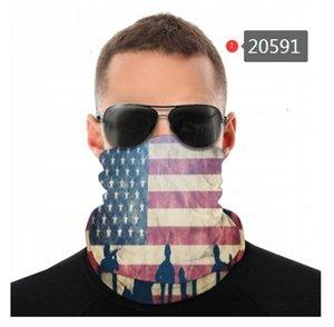 Американский флаг Старая слава Бесшовные шеи Gaiter Щит шарф Бандана маска для лица UV защиты мотоциклов Велоспорт Верховая езда Бег Заставки
