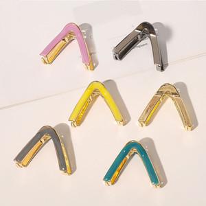 Triangolo Barrettes Styling Tools metallo Claws Candy lega clip accessori per capelli Geometric Hairgrips Nuovo