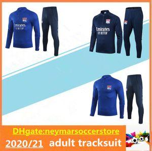 2020 2021 Olympique Lyon soccer jacket tracksuit 2020 21 Lyonnais AOUAR DENBELE MEMPHIS Maillot de football adult training suit