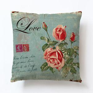 Sofas Cushion Cover Fresh Flowers Leaf Cartoon Imitation Hemp Pillow Covers Couch Home Decor Pillowcases Decorative New Arrival 3 8ys M2