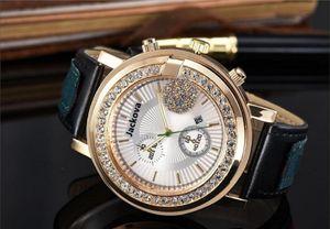 Большие бриллианты кварцевые кожаные мужские часы мода женщины мужские платья дизайнер часы оптом мужские подарки наручные часы