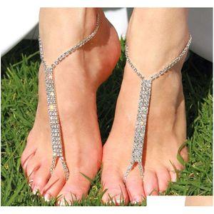 صندل الشاطئ الخلخال للنساء مثير الشظية مطلي الكاحل سوار اصبع القدم الرقيق سلسلة مجوهرات سلسلة STB03