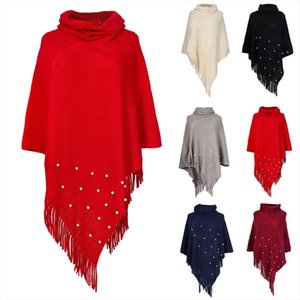 Women Autumn Winter Fashion Knitted Cashmere Poncho Capes Shawl Loose Sweater Coat Wholesale Free Ship Z4