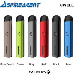 Uwell Caliburn G / Caliburn Portable Pod System Kit 15W / 11W Built-in 690mAH / 520mAh com 2ml POD Cartucho Direto Button Driven Vape Kit