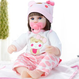 Silicone Reborn Doll 42cm Alive Toddler Realistic Lifelike Real Girl Baby Doll Lol Birthday Christmas Play Toy For Children Gift Y1230