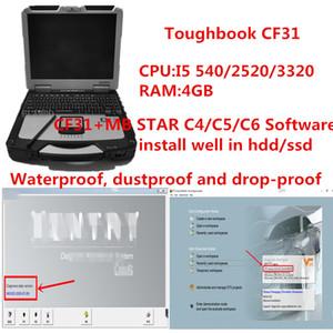 أفضل سعر CF31 كمبيوتر محمول التشخيص i5 و PC 4GB مع ميغابايت نجمة C4 / C5 / C6 V2020.09 العمل لينة وير لتشخيص C5 أداة / C4