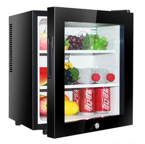 30L small mini hotel room refrigerator tea fresh glass door refrigerated display freezer factory direct sales
