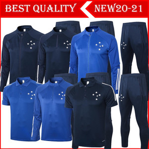 New 2020 2021 adult kit Long sleeves Cruzeiro jacket uniforms tracksuits soccer jersey 20 21 train football coat training shirt suit kit