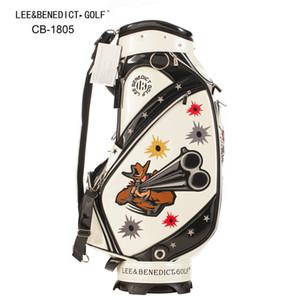 LB Golf Leeb Çanta PU Yağmur Topu Paketi için Golf Kulüpleri Standart Adam Sepeti Kapak Renkli Çanta Deri Douber-Taraflı Lpern Sağfları