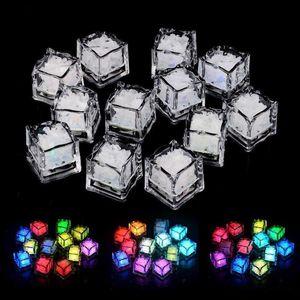 7 Colors Lights Xmas LED ice cubes Christmas Party Decoration Glowing Ice Cubes Blinking Flashing