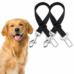 Hot Sale 9 Colors Cat Dog Car Safety Seat Belt Harness Adjustable Pet Puppy Pup Hound Vehicle Seatbelt Lead Leash for Dogs