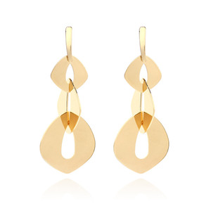 2020 European and American Fashion Exaggerated Earrings Women Multi-layer Ins Style Geometric Sequin Long Earrings