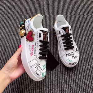Louis Vuitton LV shoes Moda Marca Smith Sneakers Casuais Couro Homens Mulheres Esporte Jogging Sneakers Flats Classic Sapatos Casuais HC190706